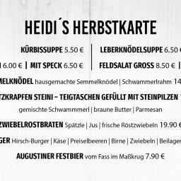 Knusbadisch, wildbayrisch, Herbstküche, Hirschburger, Heidi's Küfer, Ihringen, ZWIEBELROSTBRATEN, SCHLUTZKRAPFEN, KÜRBISSUPPE, LEBERKNÖDELSUPPE, Semmelknödel